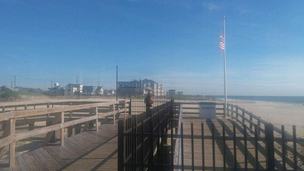 Kúsok promenády a pláže v Seaside Heights